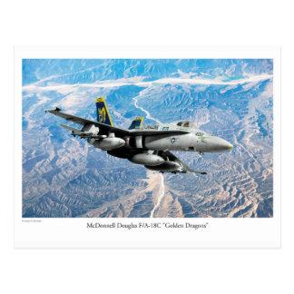 """Postal Aviation Art Postcard """"F/A-18 Hornet"""""""