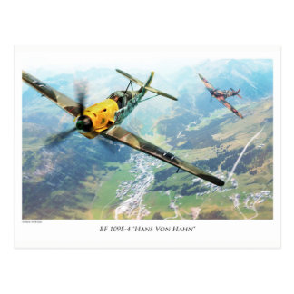 """Postal Aviation Art Postcard """"Messerschmitt Bf109E"""""""