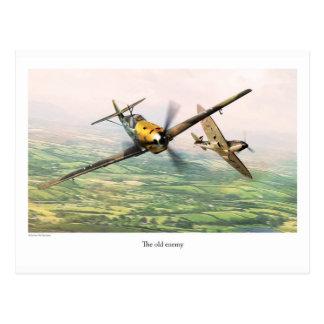 """Postal Aviation Art Postcard """"Messerschmitt Bf 109E"""""""