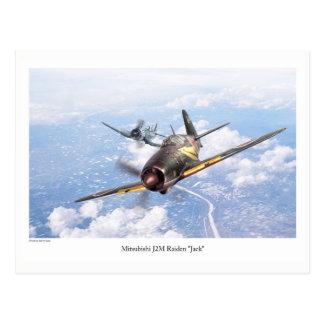 "Postal Aviation Art Postcard ""Mitsubishi J2M Jack"""