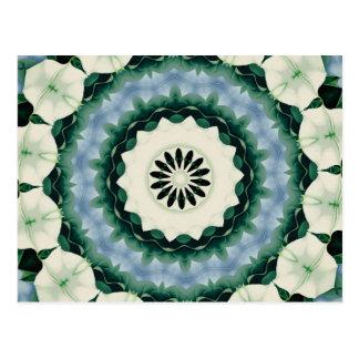 Postal Azul cerúleo y mandala verde de Sacramento