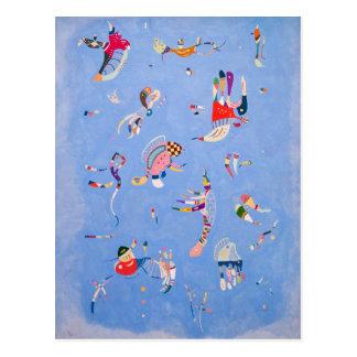 Postal Azul de cielo el | Wassily Kandinsky