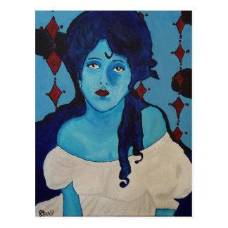 Postal Azul de Evelyn
