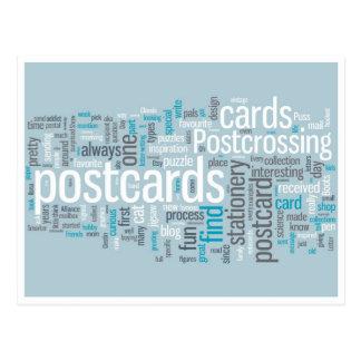 """Postal """"azul de Postcrossing """""""