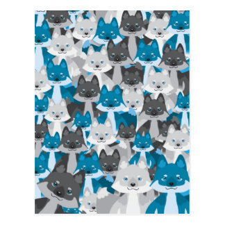 Postal azul de Wolfie