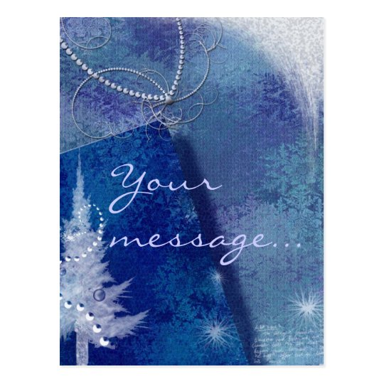 Postal azul del navidad