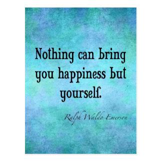 Postal Azul inspirado de la cita de la felicidad de