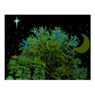 Postal Azules del árbol