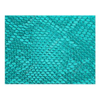 Postal Azules turquesas del reptil