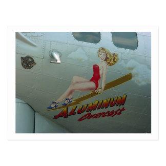 """Postal B-17 arte """"cubierto"""" de aluminio de la nariz"""