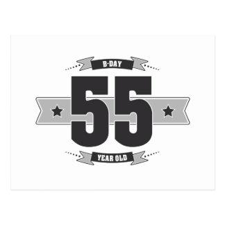 Postal B-día 55 (Dark&Lightgrey)