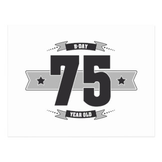 Postal B-día 75 (Dark&Lightgrey)