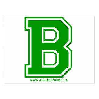 Postal B verde