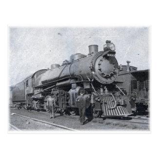 Postal B y locomotora de vapor de O 4013