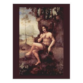 Postal Bacchus de Leonardo da Vinci