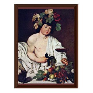 Postal Bacchus de Miguel Ángel Merisi DA Caravaggio