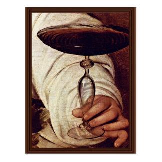 Postal Bacchus, detalle de Miguel Ángel Merisi DA
