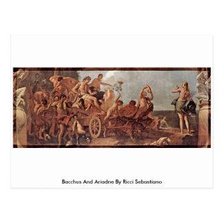 Postal Bacchus y Ariadne de Ricci Sebastiano