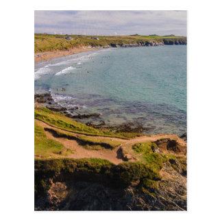 Postal Bahía costera Pembrokeshire País de Gales de