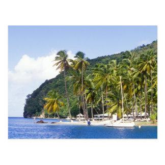 Postal Bahía de Marigot, St Lucia, del Caribe