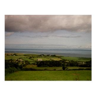 Postal Bahía de Tralee de la visión aérea, Kerry, Irlanda