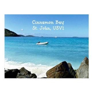 Postal Bahía del canela, St. John USVI