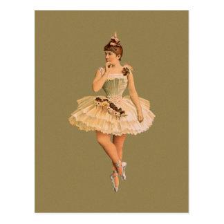 Postal Bailarina del Victorian del vintage