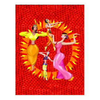 Postal Bailarinas de la danza del vientre