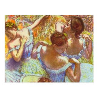 Postal Bailarines azules de Edgar Degas
