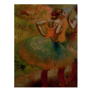 Postal Bailarines de Edgar Degas el   que llevan las