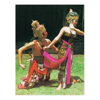 Postal Bailarines de Ramayana, baile tradicional hindú,