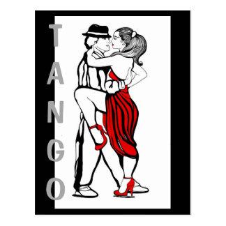 Postal Bailarines del tango