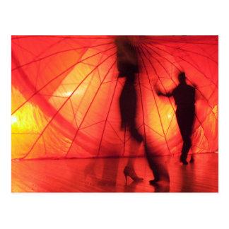 Postal Bailarines del tango de Argentina