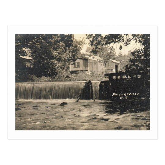 Postal Baja la vista de Pottersville, vintage 1909 de NJ