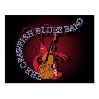 Postal Bajista de la banda de azules de los cangrejos