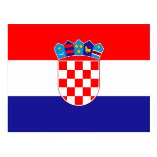 Postal ¡Bajo costo! Bandera croata