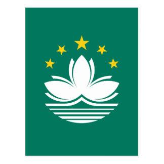 Postal ¡Bajo costo! Bandera de Macao