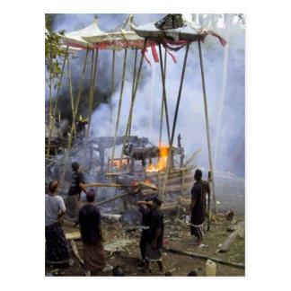 Postal Bali, ceremonia fúnebre del Balinese