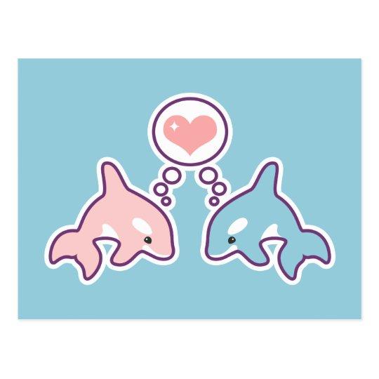 Postal Ballenas lindas de la orca