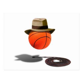 Postal Baloncesto con Fedora y el azote