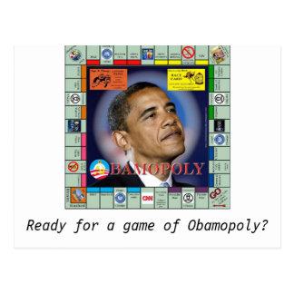 Postal ¿bamopoly, aliste para un juego de Obamopoly?