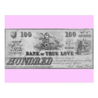 Postal Banco del amor verdadero