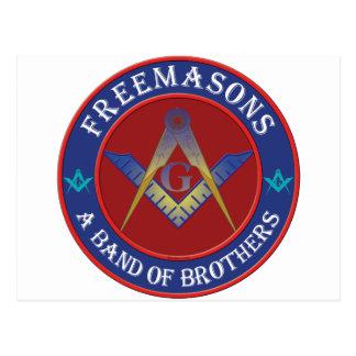 Postal Banda de los Freemasons de hermanos