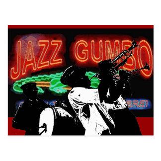 Postal Banda de metales del Gumbo del jazz