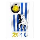 Postal Bandera 2010 de Futbol Churruas del fútbol de