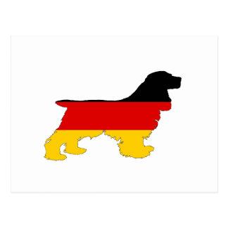 Postal Bandera alemana - cocker spaniel
