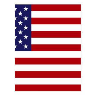 Postal Bandera americana - barras y estrellas - vieja
