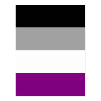 Postal Bandera asexual del orgullo
