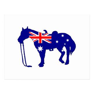 Postal Bandera australiana - caballo