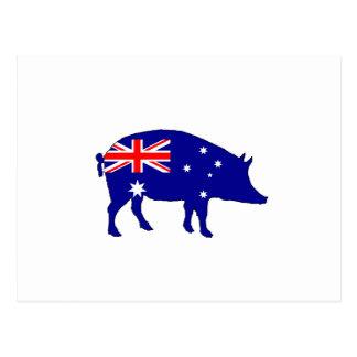 Postal Bandera australiana - cerdo